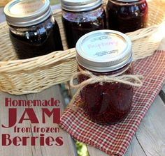 How To Make Homemade Jam with Frozen Berries