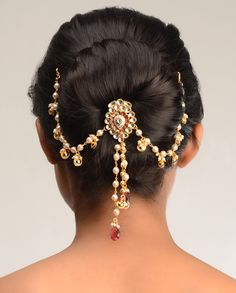 Sahana Kundan Hair Pin  by Bansri Joaillerie