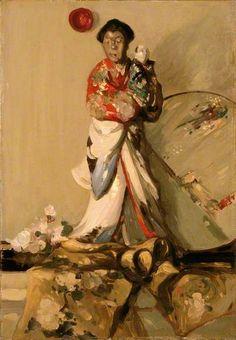 The Japanese Statuette, 1903 by J.D.Fergusson (Scottish 1874-1961)