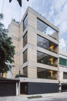 Apartment Building Facade modern office building facade in california - one workspace