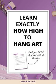 1000 Ideas About Hang Pictures On Pinterest How To Hang