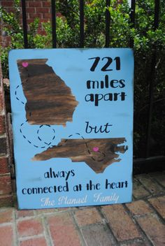 Going away gift friend moving sign painted by HappyHootCreation