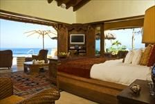 Bedroom with beach views