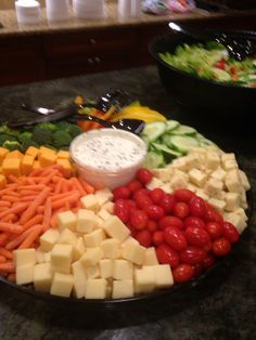 Vegetable and cheese tray