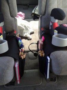 Ikea remote control #organizer for kids' stuff in the van