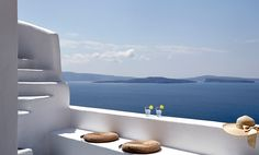Morning view of Caldera in Santorini. Photograph by Antonis Eleftherakis. ( http://www.pinterest.com/absst/ )