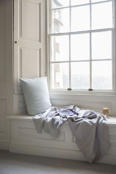 Linen Throw Fringe in Pale Grey. Our Fringed Linen Throw is crafted from Motte linen that is slightly heavier but no less charming. It features delicate fringing along all sides, a touch of simple luxury. Sash Windows, Windows And Doors, Georgian Windows, Home Office, Window Reveal, Townhouse Interior, Home And Living, Living Room, Small Living