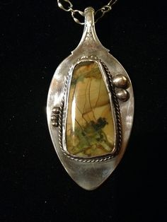 Sterling Silver Morrisonite Jasper Spoon Necklace