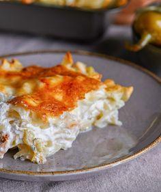 Lasagna, Macaroni And Cheese, Breakfast, Ethnic Recipes, Dinner Ideas, Street, Food, Kitchen, Morning Coffee