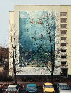 Ein ziemlich großes Aquarium - Wandbild in Hennigsdorf