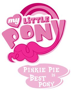 best pony logos | Fanart - MLP. My Little Pony Logo - Pinkie Pie by *jamescorck on ...