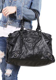 Black Zipper Shoulder Bag 27.33