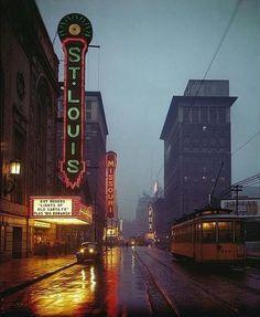 North Grand Blvd. in St. Louis, MO 1949
