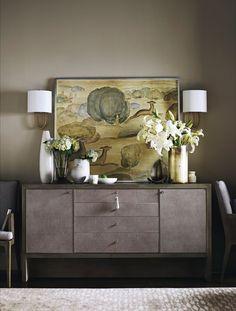 Simple elegance, Barbara Barry Carmel Console by Baker Furniture