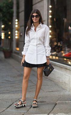 24 melhores ideias sobre Camisa branca clássica   Camisa