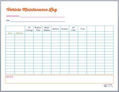 vehicle maintenance log book template car maintenance tips