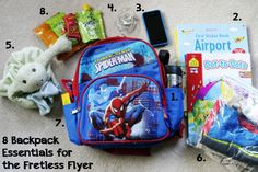 Really great list of what should go in a travel backpack.
