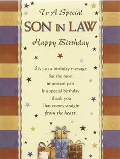 22 Best Happy Birthday Son In Law Images Congratulations