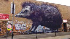 Street art London, Brick Lane, Shoreditch, artist: ROA