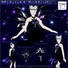 Topaz Square ~ Midnight Butterfly  *New for *2012*