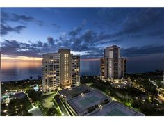 SOLD - Gulf of Mexico and high rise views Park Shore - View - Naples - tennis on top of the garage