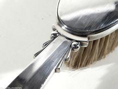Georg JENSEN Denmark Art Deco Silber Bürste ° Haar- oder Kleiderbürste um 1933