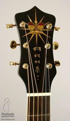 ARK New Era Recording acoustic guitar headstock