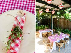 La Dolce Vita Italy Inspired Twins Birthday Party: Rosemary Sprigs Accent