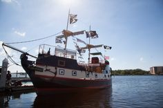 Family fun is guaranteed aboard Salty Sam's Pirate Cruise. It offers themed entertainment aboard a replica pirate galleon as it sails around Fort Myers Beach, FL.