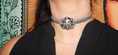 A personal favorite from my Etsy shop https://www.etsy.com/listing/276131756/the-head-honcho-concho-choker-on-gray