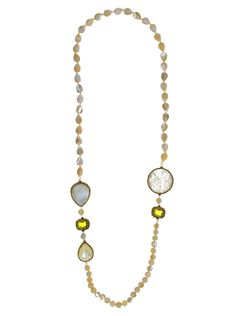 Necklace made of sterling silver 925 with mother of pearl and quartz stones Quartz Stone, Stones, Pearls, Sterling Silver, Chain, Gold, Jewelry, Rocks, Jewlery