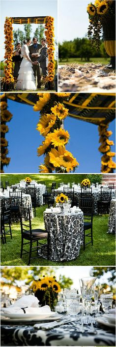 sunflower wedding centerpieces | visit weddinary com