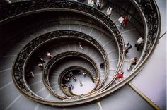 Vatican City Stair- I dream of going here again. My love do Rome is infinite.