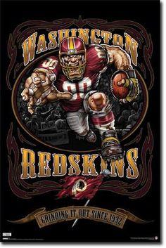 Washington Redskins Mascot Poster