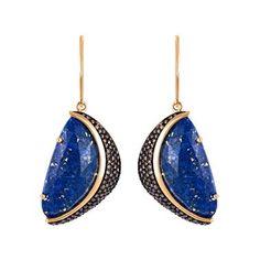 Arya Esha lapis and diamond earrings