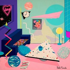 These paintings evoke the 1980s in all its plastic neon-pastel cocaine glory | Dangerous Minds