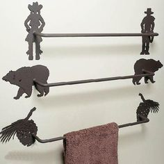 Create Your Own Towel Bar at Rocky Mountain Decor.