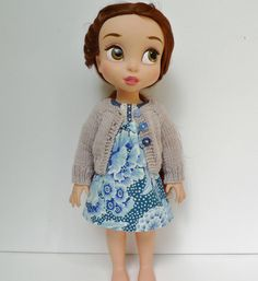 Blue patch dress and cardigan. by Hillyrags on Etsy