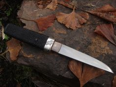 Hand forged Japanese style art knife made on Vancouver Island.