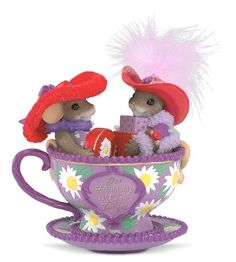 Our Friendship Is Beautiful Charming Tails purple teacup red hat club… Adorable must have!
