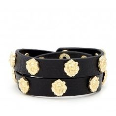 Accented leather bracelet