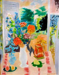 Jules Cavaillès - Fenetre à Epineuil, Not dated, Oil on canvas - Jules Cavaillès Research Center