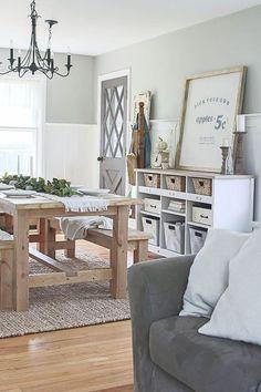 Gorgeous 70 Gorgeous Modern Farmhouse Dining Room Design Ideas https://homstuff.com/2018/02/01/70-gorgeous-modern-farmhouse-dining-room-design-ideas/