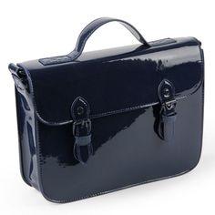 Colourblock navy satchel