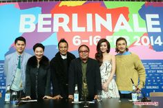 You-Nam Wong, Janice Man, Chui Tien-You, Fruit Chan, Kara Hui Ying-hung and Simon Yam (L to R) at a photocall to promote their new movie 'The Midnight After' at the 64th Berlinale International Film Festival in Berlin, Germany, on February 7, 2014 + #VivaconAgua