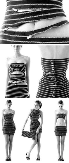 LOL with my big belly this dress would be a crime!! Zipper Dress! Designed by Sebastian Errazuriz
