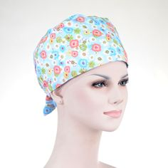 Medical Just Hennar Women Print Surgical Caps Masks 100% Cotton Purple Hospital Surgical Caps Dental Clinic Beauty Salon Workwear Caps Bracing Up The Whole System And Strengthening It