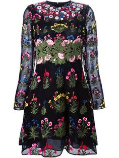 Shop Valentino 'Primavera' embroidered dress in Luisa World from the world's best independent boutiques at farfetch.com. Shop 300 boutiques at one address.