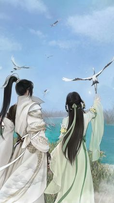 A beautiful world between love and eternity. Anime Couples Drawings, Cute Anime Couples, Ancient China, Ancient Art, Asian History, British History, Avatar Couple, China Art, Couple Art