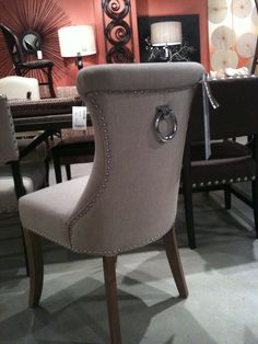 Another Big Trend On Upholstery Was Nail Heads And Round Pulls The Naples Chair